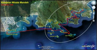 rute jalur laut kawasan wisata Mandeh