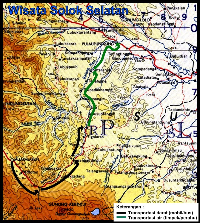 peta wisata Solok Selatan