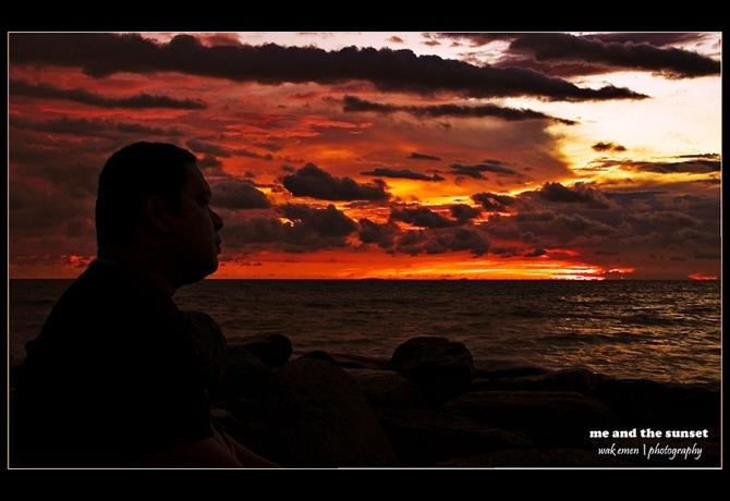 me & sunset