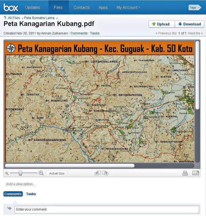 Peta Kanagarian Kubang