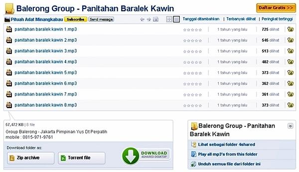Balerong Group - Panitahan Baralek Kawin