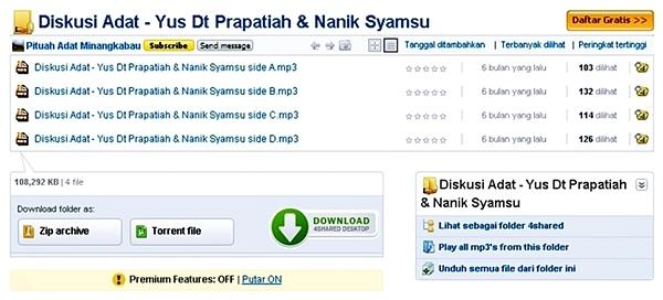 Diskusi Adat - Yus Dt Prapatiah & Nanik Syamsu