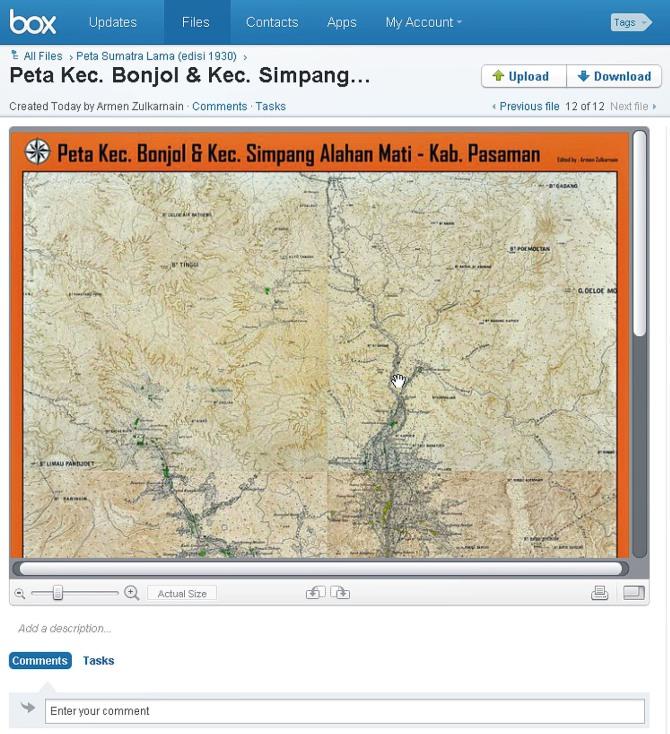 Peta Kec. Bonjol & Kec. Simpang Alahan Mati