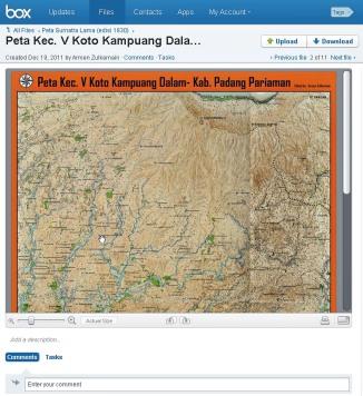 Peta Kec. V Koto Kampuang Dalam
